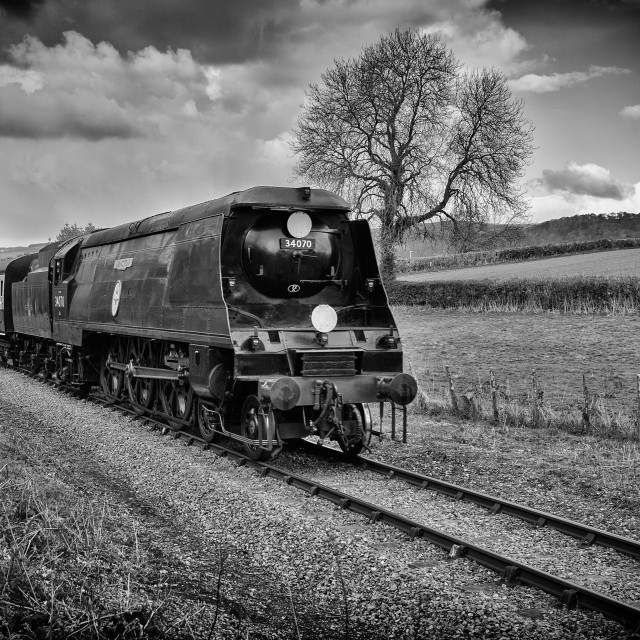 """SR 34070 Battle of Britain Class Manston"" stock image"