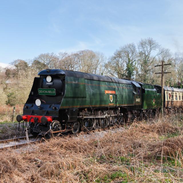 """SR 34007 West Country Class Wadebridge"" stock image"