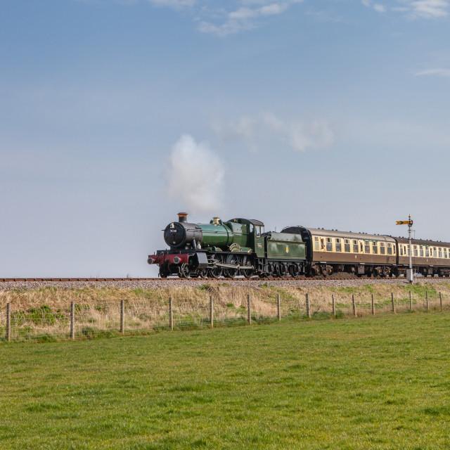 """GWR Manor No.7828 Odney Manor"" stock image"