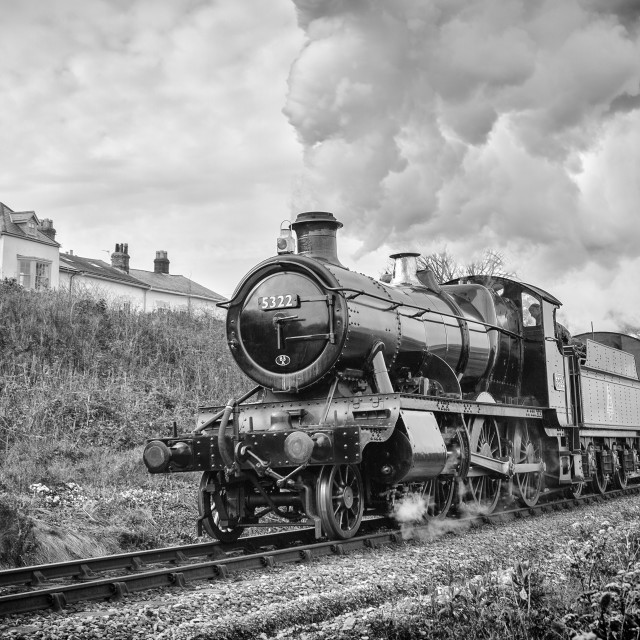 """GWR 43xx class No. 5322"" stock image"
