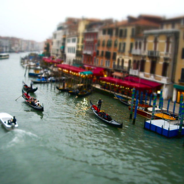 """Miniature Grand Canal"" stock image"