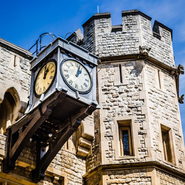 """Tower clock"" stock image"
