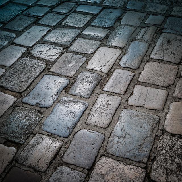 """""""Cobble stones"""" stock image"""