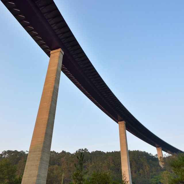 """Curved viaduct"" stock image"