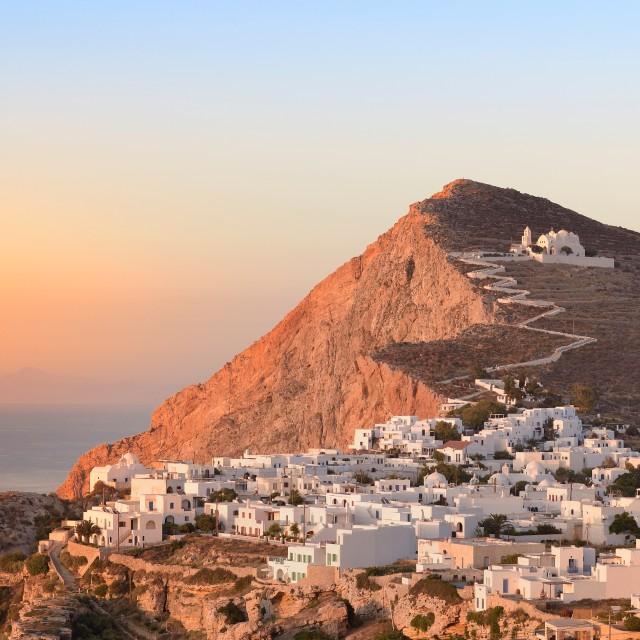 """Folegandros at sunset"" stock image"