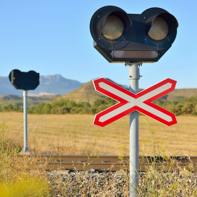 """level crossing"" stock image"
