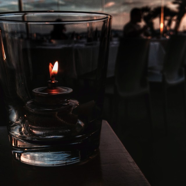 """Candlelight Sunset 1"" stock image"