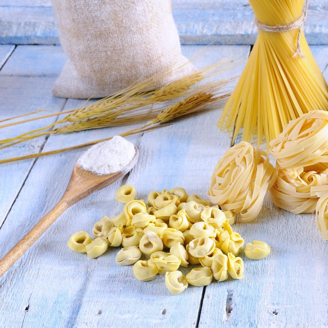 """Pasta and ingredients."" stock image"