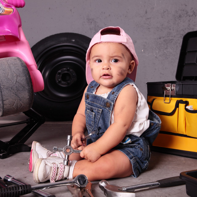 """""""young mechanic"""" stock image"""
