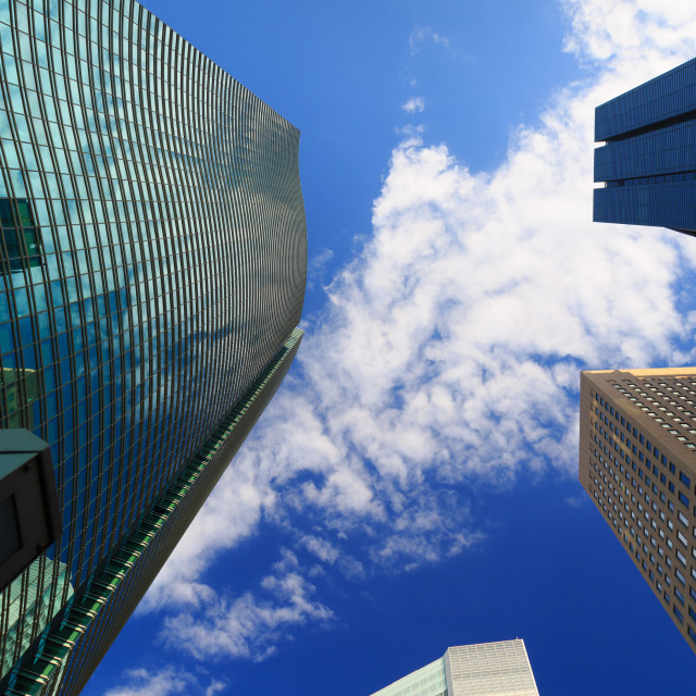 """""""Tokyo financial district buildings with sky"""" stock image"""
