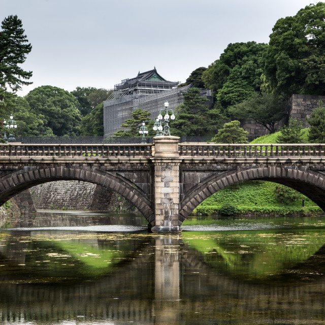 """Ancient Japanese Bridge"" stock image"