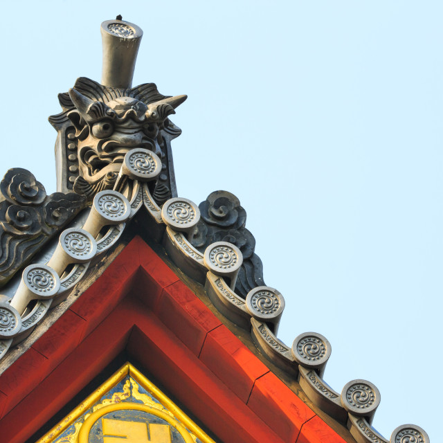 """Shinto temple roof"" stock image"