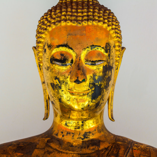 """""""BANGKOK, THAILAND-CIRCA DECEMBER 2011: Buddha statue from temple in Thailand. The statue are worshipped as Buddha's image on circa December 2011"""" stock image"""