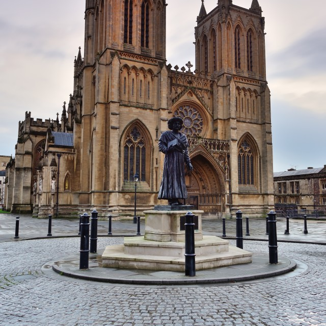 """Bristol Cathedral"" stock image"