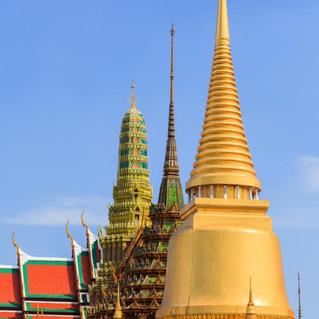 """""""Pagoda from emerald palace in Bangkok"""" stock image"""
