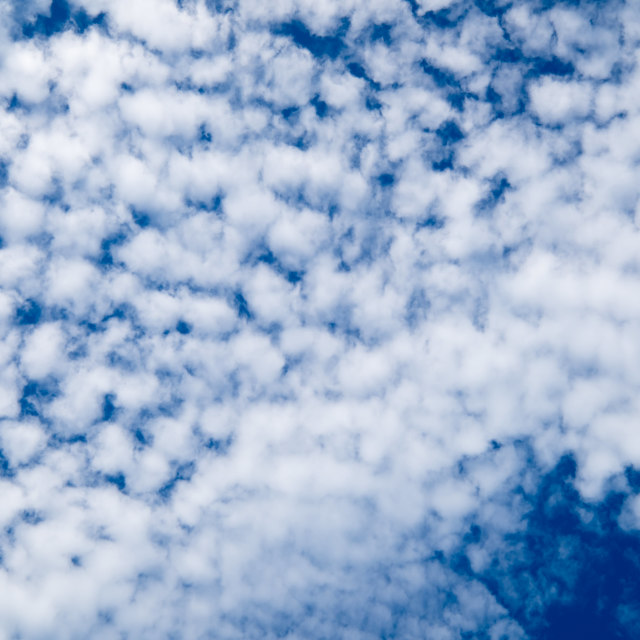 """Small clouds over the sky"" stock image"