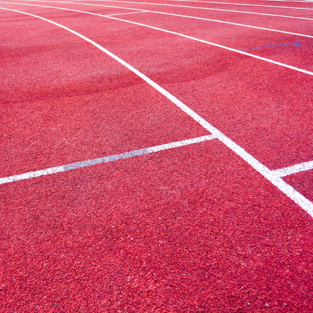 """""""Red running track field"""" stock image"""
