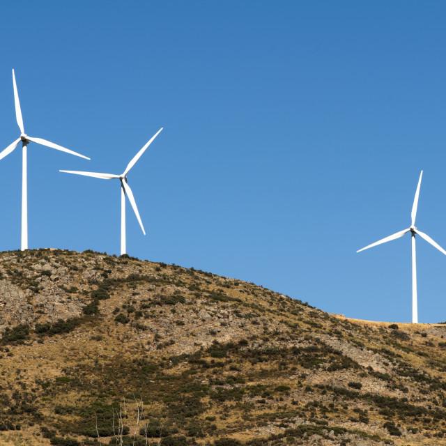 """Wind generators on the top"" stock image"