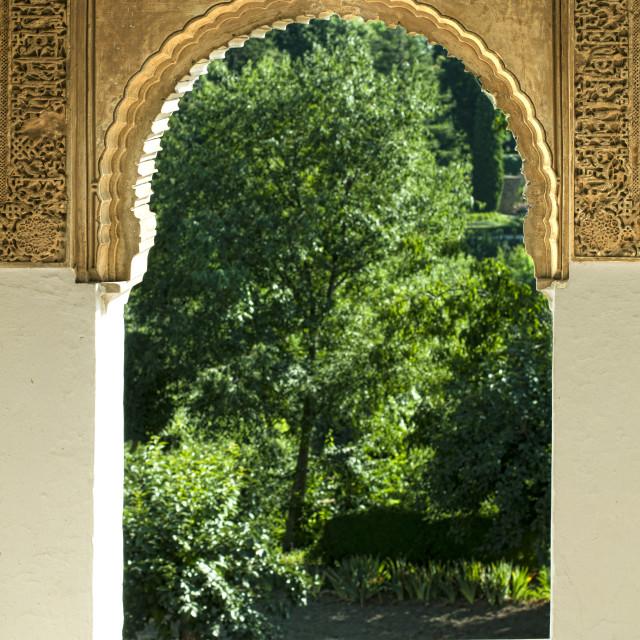 """Islamic motifs arch window"" stock image"
