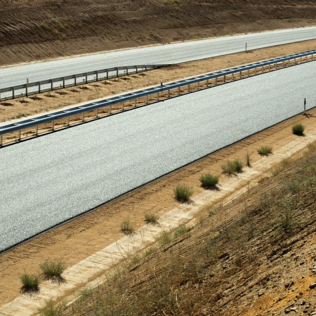 """New asphalt highway road"" stock image"