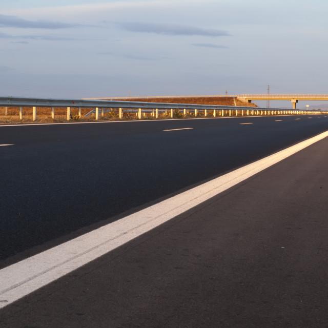 """Brand new Highway"" stock image"