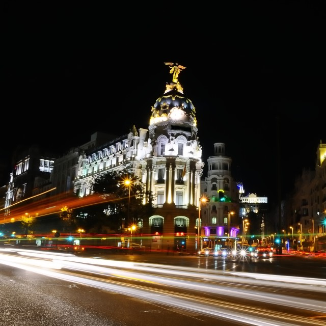 """Madrid night."" stock image"