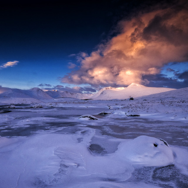 """Winter in the Highlands of Scotland"" stock image"