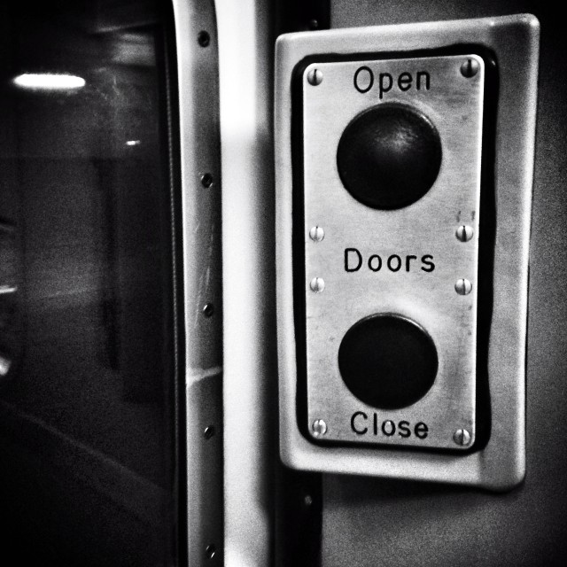 """Open/Doors/Close"" stock image"