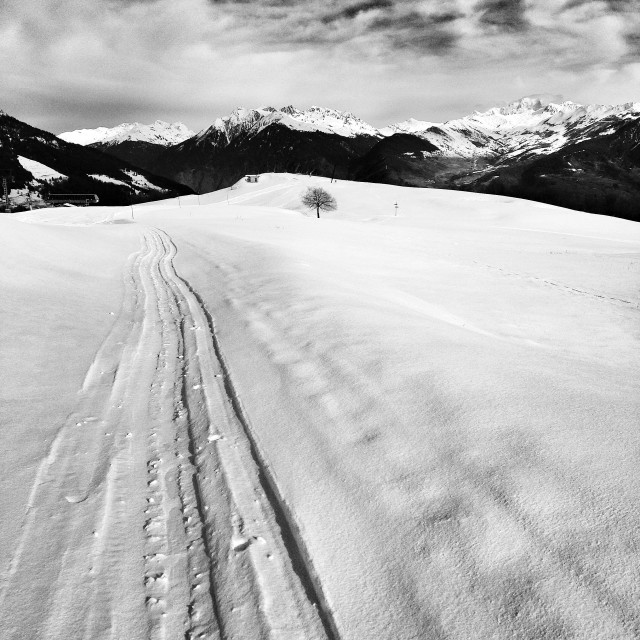 """Wide piste"" stock image"