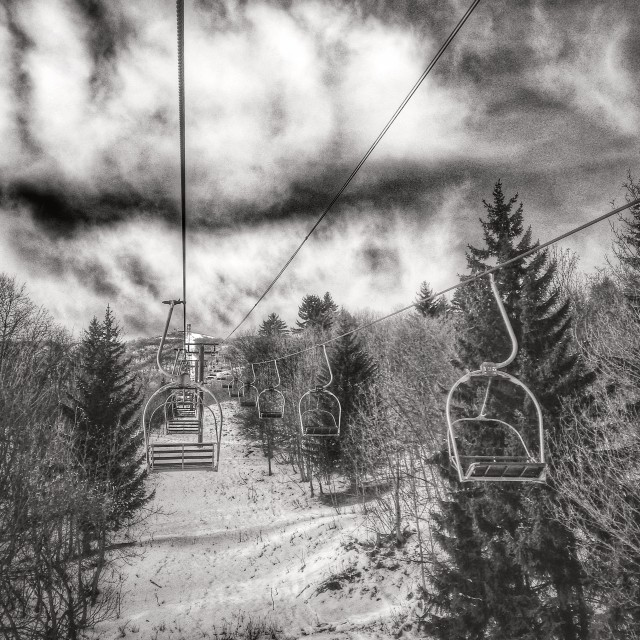 """Old chairlift"" stock image"