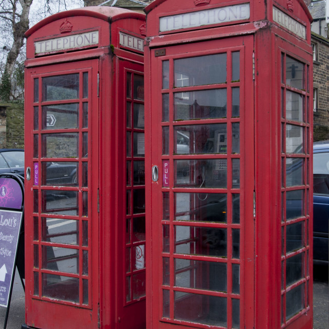 """""""Red Telephone boxes"""" stock image"""