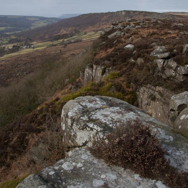 """""""Baslow Edge, Derbyshire"""" stock image"""