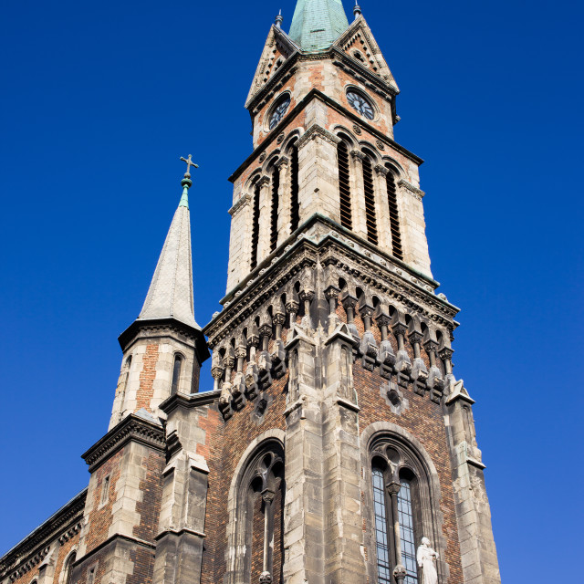 """Ferencvaros Church Tower in Budapest"" stock image"