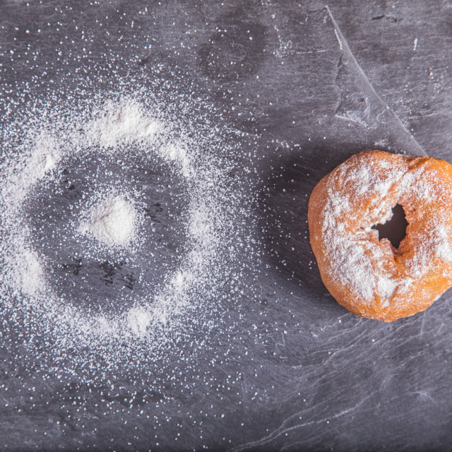 """homemade donut"" stock image"