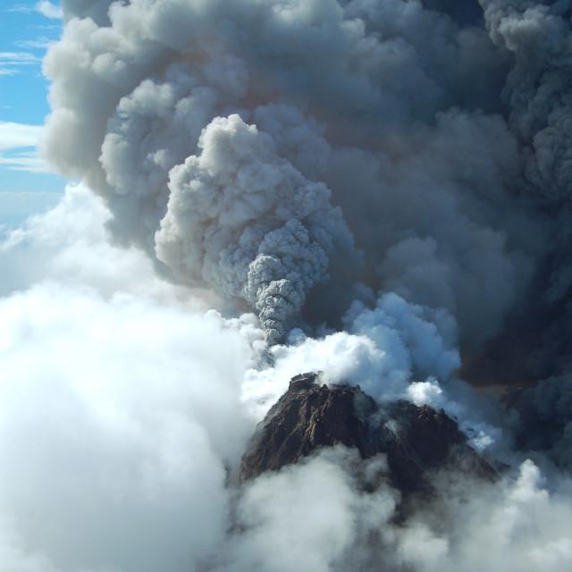 """""""Montserrat Volcano 1"""" stock image"""