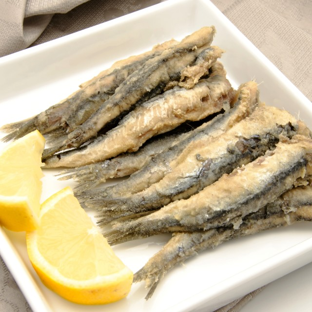 """Fried anchovies"" stock image"