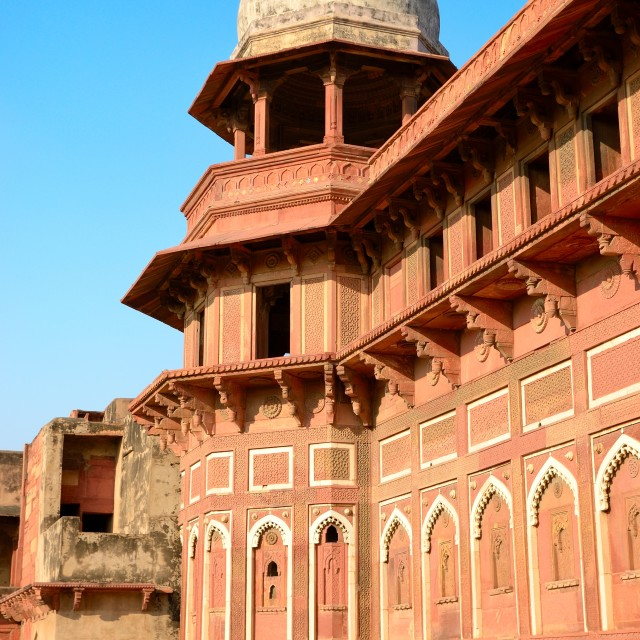 """Red Fort Dome"" stock image"