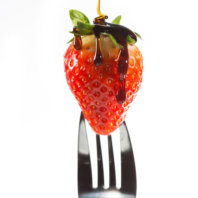 """Strawberry fork"" stock image"