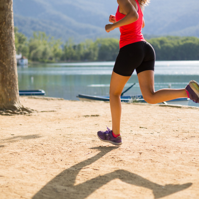 """Girl running"" stock image"