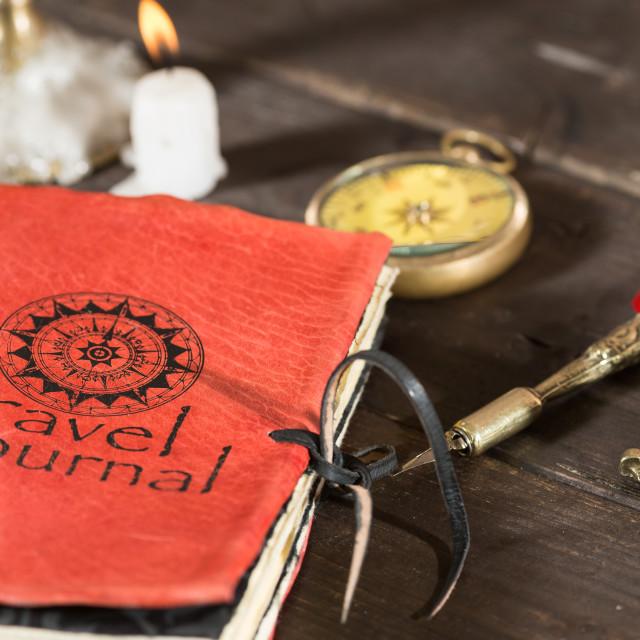"""Travel journal"" stock image"