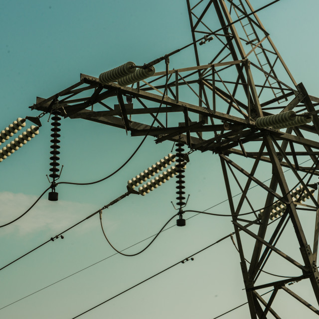 """Top Part of Electrical Pylon"" stock image"