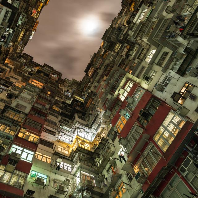 """""""Hong Kong overcrowded flats"""" stock image"""