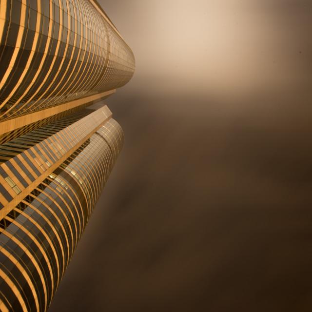"""""""Hong Kong, Hong Kong - October 18, 2014. Futuristic Building in"""" stock image"""