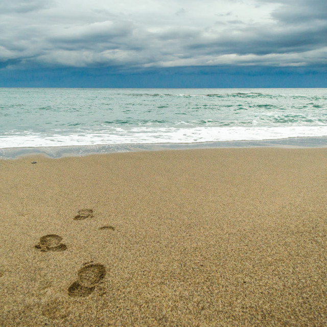 """orme (footprints)"" stock image"