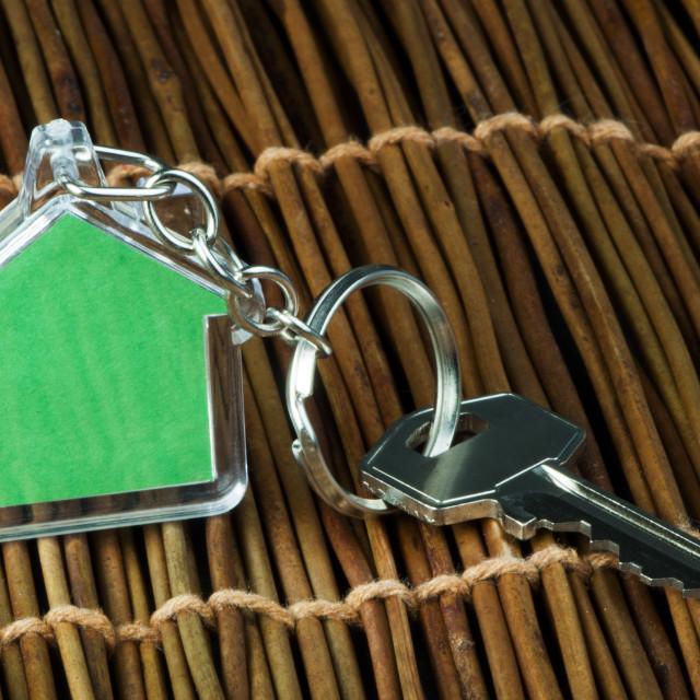 """Keychain and key"" stock image"