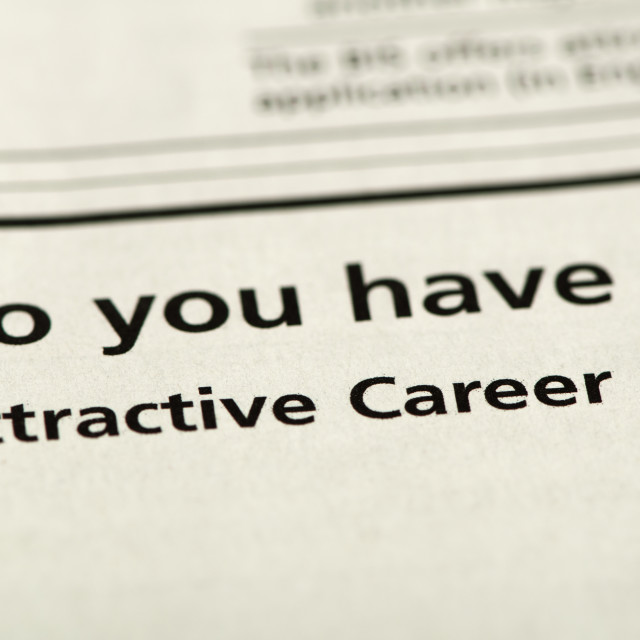 """Word Attractive Career"" stock image"