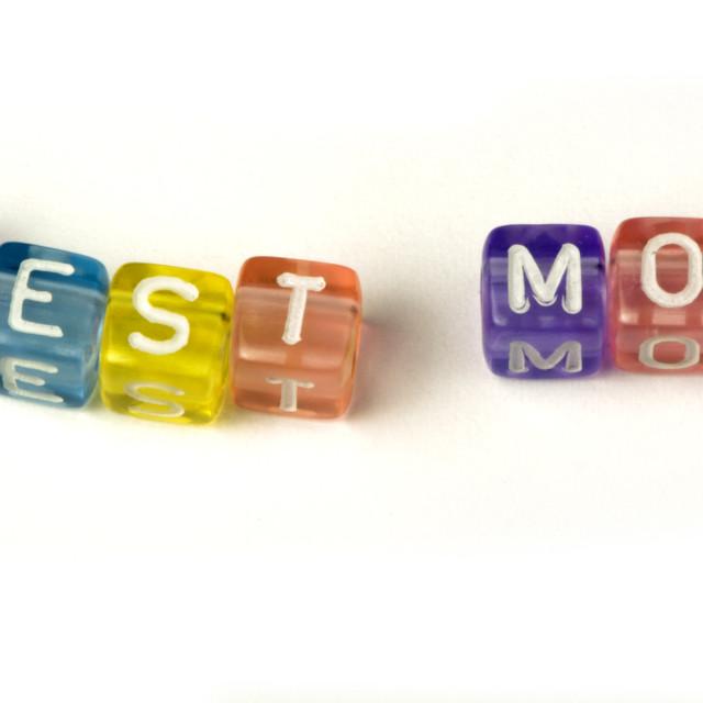 """Phrase Best mom"" stock image"