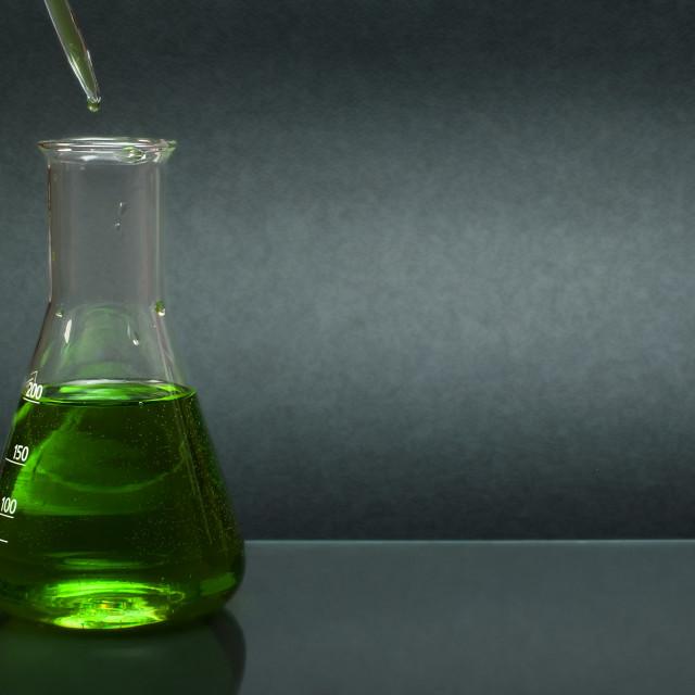 """Laboratory glassware equipment"" stock image"