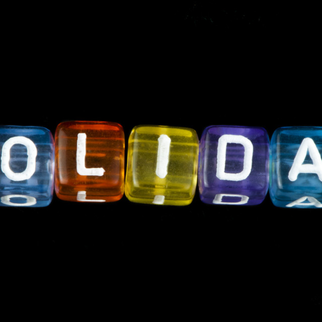"""Word holiday"" stock image"