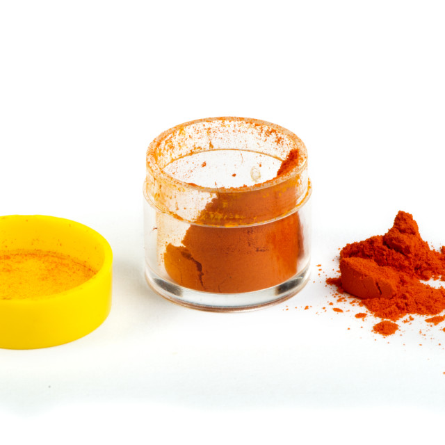 """Artificial food coloring pigment or substances in pack"" stock image"